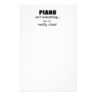 Piano Isn't Everything Personalized Stationery