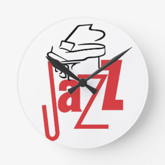 Piano Jazz Round Clock