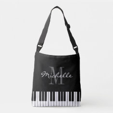 Piano Key Cross Body Bag For Teacher Or Student at Zazzle