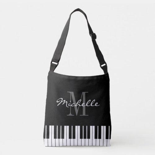 Piano key cross body bag for teacher or student