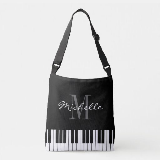 Personalized Piano Key Music Tote Bag for Student or Teacher