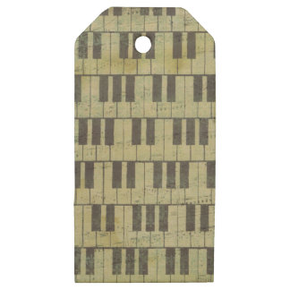 Piano Key Music Note Music Theme Wooden Gift Tags
