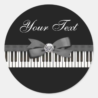 Piano Key Recital Classic Round Sticker