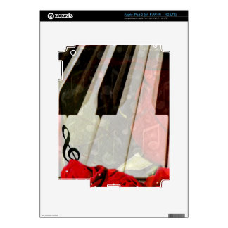 Piano key Roses Muisc notes_ iPad 3 Decal