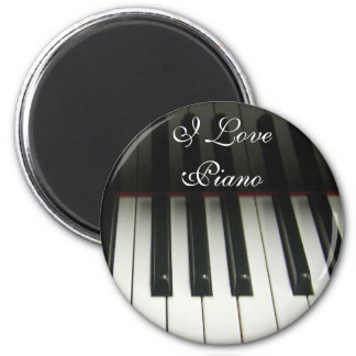 Piano Keyboard 2 Inch Round Magnet