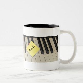Piano Keyboard A.F.K. (Away From Keyboard) Mug
