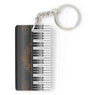Piano Keyboard Acrylic Keychain