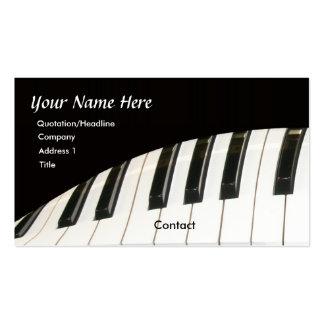 Piano Keyboard and Grand Piano Business Card