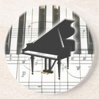 Piano Keyboard and Music Notes Coaster