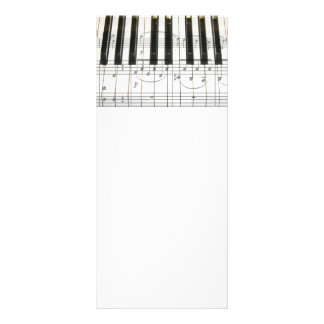 Piano Keyboard and Music Notes Rack Card