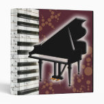 Piano Keyboard and Music Notes Vinyl Binders