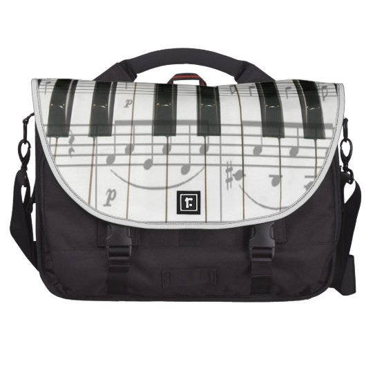 Piano Keyboard and Note Laptop Bag