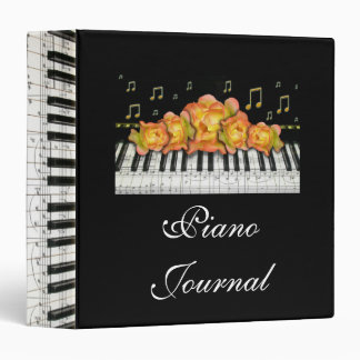 Piano Keyboard and Roses Binder