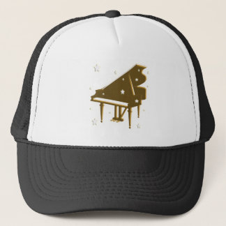 Piano Keyboard and Stars Trucker Hat
