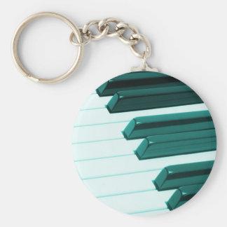 Piano Keyboard Basic Round Button Keychain