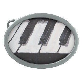 Piano Keyboard Belt Buckel Oval Belt Buckle