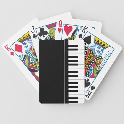 Piano keyboard bicycle playing cards