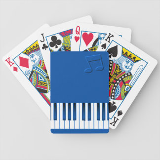 Piano Keyboard - Blue Bicycle Playing Cards