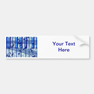 Piano Keyboard Bumper Sticker