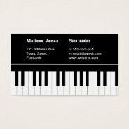 Piano Keyboard Business Card at Zazzle