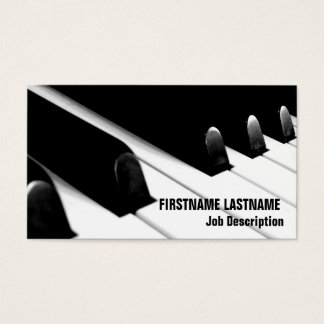 Piano Keyboard Business Card