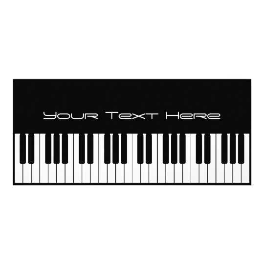 Piano Keyboard Business Rack Card