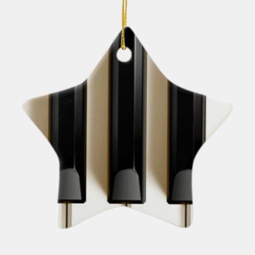 Piano keyboard christmas ornament zazzle