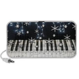 Piano Keyboard Christmas Snowflakes Travel Speaker