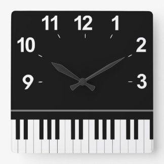 Piano keyboard wallclock