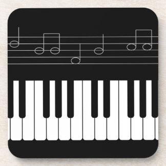 Piano keyboard coaster