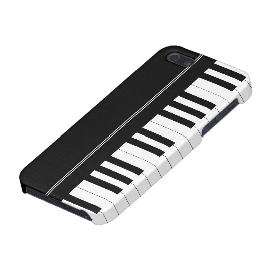 Piano keyboard cover for iPhone SE/5/5s