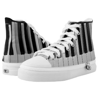 Piano Keyboard Custom High Top Shoes Printed Shoes