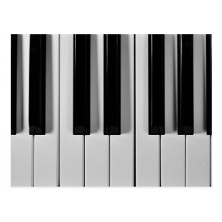 Piano Keyboard Custom Postcard