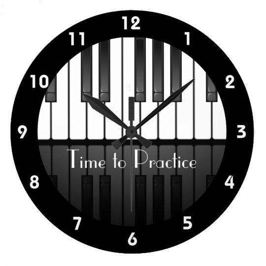 Piano Keyboard Design Clock