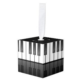 Piano Keyboard Design Cube Ornament