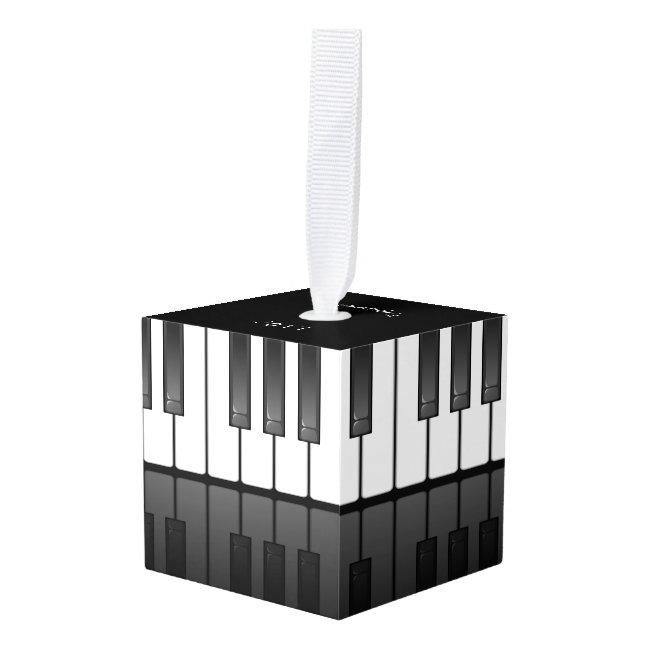 Piano Keyboard Design Cube Ornament