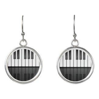 Piano Keyboard Design Drop Earrings