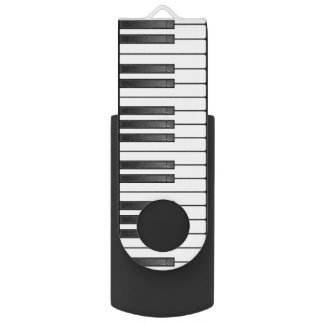 Piano Keyboard Design Flash Drive