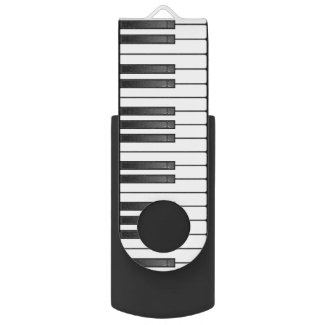 Piano Keyboard Design Flash Drive