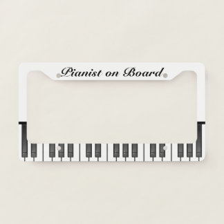 Piano Keyboard Design License Plate Frame