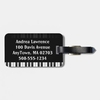 Piano Keyboard Design Luggage Tags