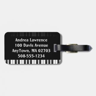 Piano Keyboard Design Luggage Tags
