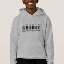 Piano Keyboard Diagram Hoodie