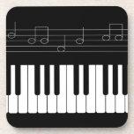 Piano keyboard drink coasters