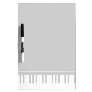 Piano keyboard dry erase whiteboard