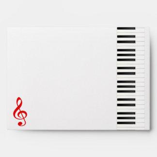 Piano Keyboard Envelope