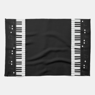 Piano keyboard hand towel