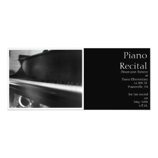 Piano Keyboard Invitation