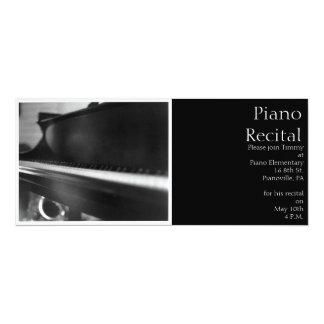 "Piano Keyboard Invitation 4"" X 9.25"" Invitation Card"
