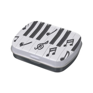 Piano Keyboard Jelly Belly Candy Tins